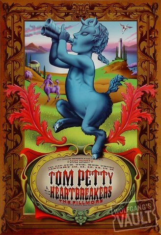 Tom Petty @ The Fillmore, SF, CA. Someone opened up a can of pepper spray that night, so we all had to clear out until it was gone. TP came back out and rocked it! Thanks to Wolfgangs Vault for the pic.