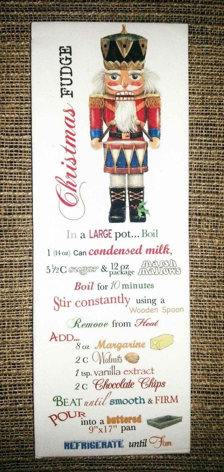 Nutcracker Classic Christmas Fudge Recipe 100% Cotton Flour Sack Towel  www.aloveofdogs.com