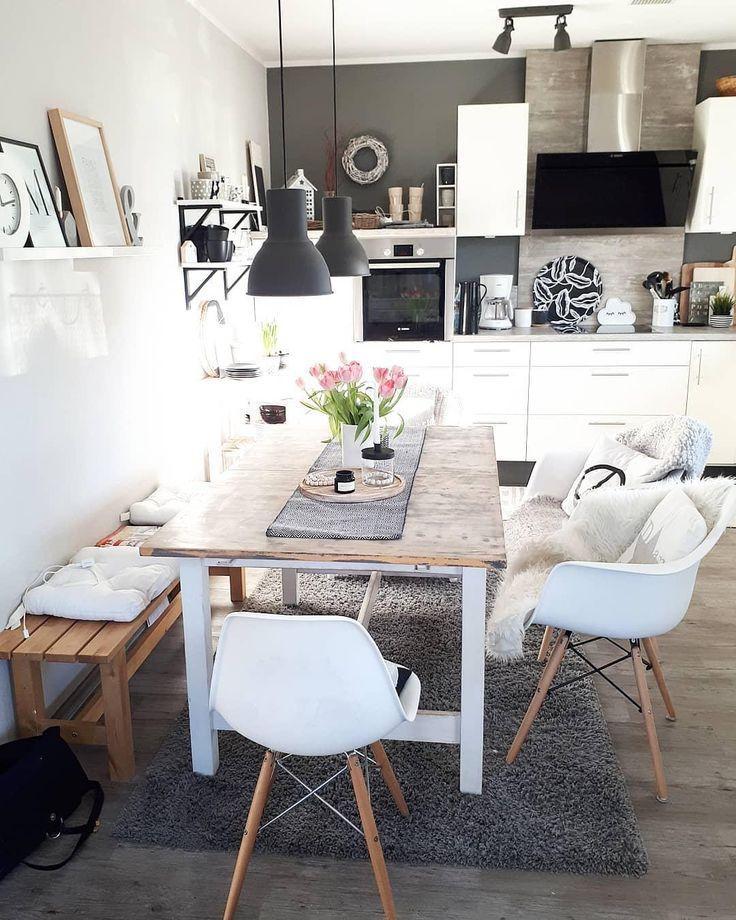 Skandinavischer Einrichtungsstil für Küchen-/ und Essbereich