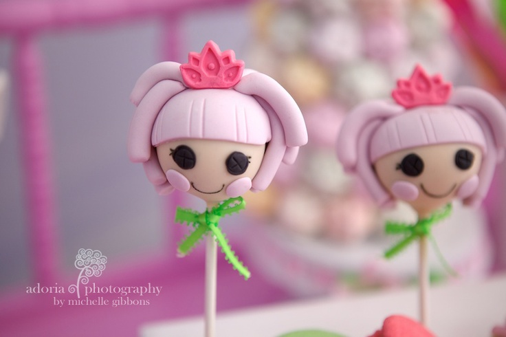 Lalaloopsi popcakes by Cake by Kim. Styling by Sweet Bambini. Photo by Adoria Photography.
