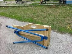 portable shooting bench - Google Search, legs from http://www.amazon.com/Target-Precision-RB-H1034-Sawhorse-Complete/dp/B00005A1KE