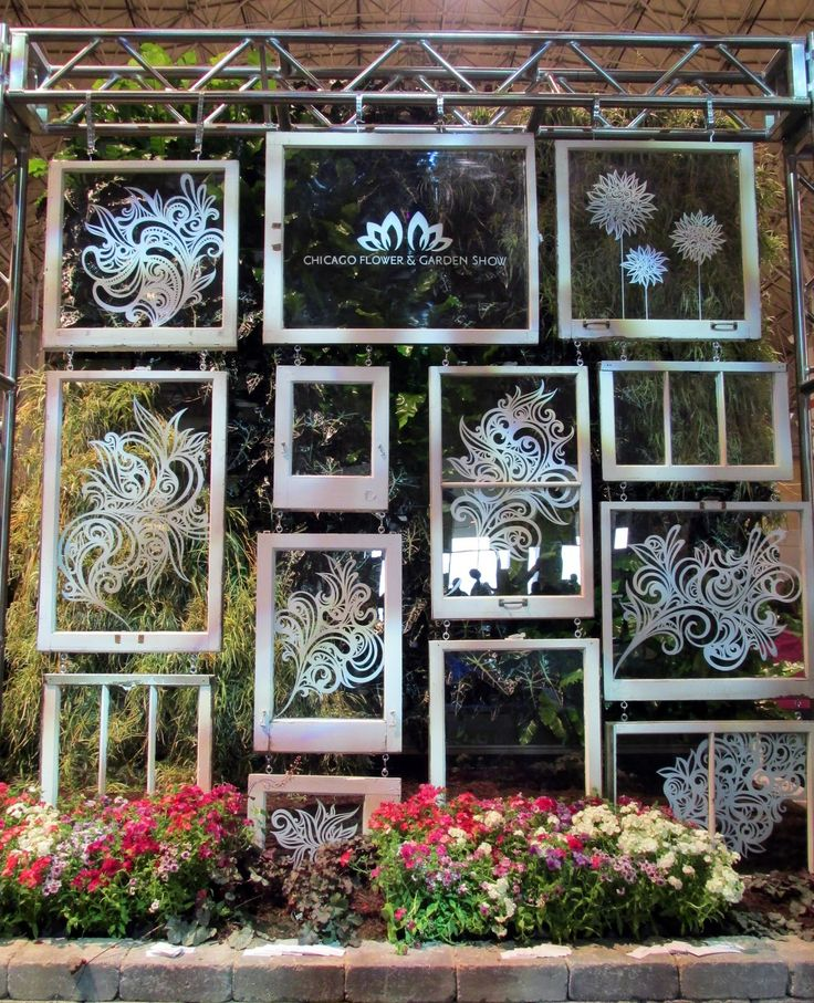 painted windows art | Hand-painted window art by Emmy Star Brown at the show's entrance