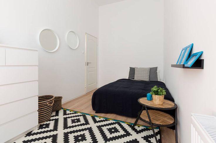 Ethnic-inspired bedroom decor.