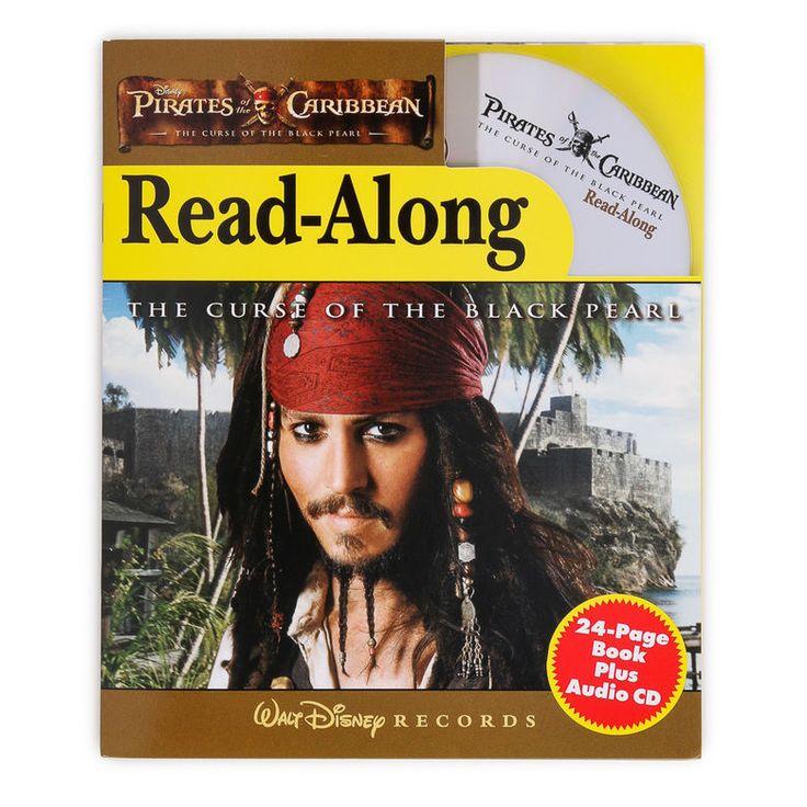 Walt Disney Records Pirates of Caribbean CURSE BLACK PEARL Book CD Read Along