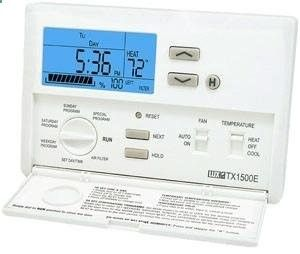Lux Products TX1500E Smart Temp Programmable Thermostat with Mini Tool Box (fs) by Lux Programmable Thermostat. $181.87. Reduce your energy costs and protect the environment with the Lux Products TX1500E Smart Temp Programmable Thermostat. This easy-to-use device allows you to customize your homes temperature to meet your comfort level and schedule. And because it lets you lower or raise temperature settings during off-peak hours, this programmable thermostat can save energy an...