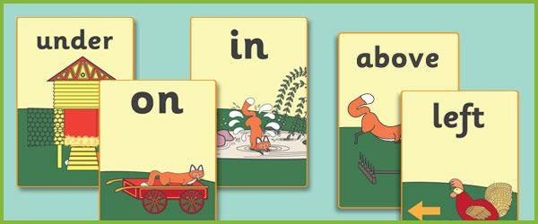 Rosie's Walk Preposition Posters