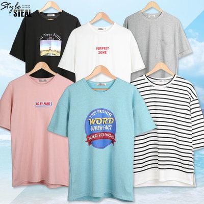 신상특가 7부 반팔티 티셔츠  루즈핏 박스핏  커플티