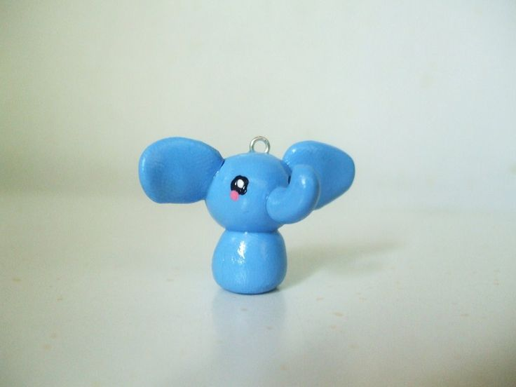 Polymer Clay Elephant charm by Number1FMAfangirl on DeviantArt