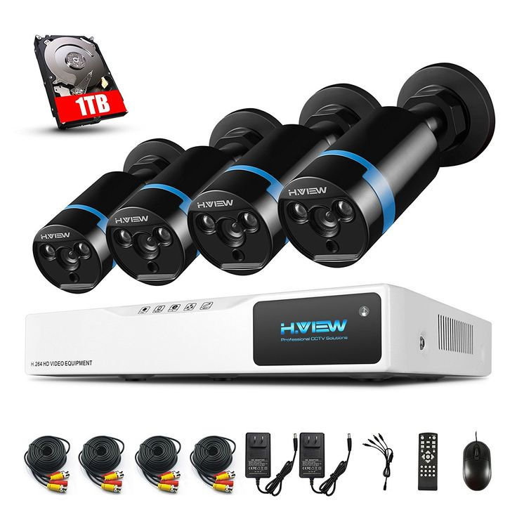 Amazon.com : H.View ProHD 1080P Home Security Camera System 1TB Hard Drive, 2.0mp indoor/ Outdoor Bullet CCTV Camera, 4 Channel 1080P AHD Surveillance DVR kit Smart Recorder : Camera & Photo