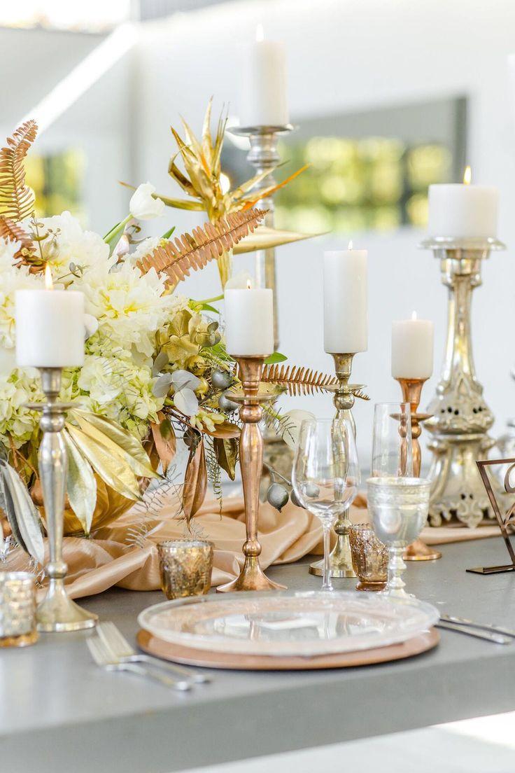 Lavish Modern Mixed Metallics Wedding Inspiration