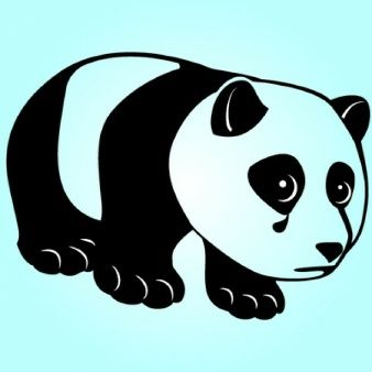 Panda triste con lágrima caída