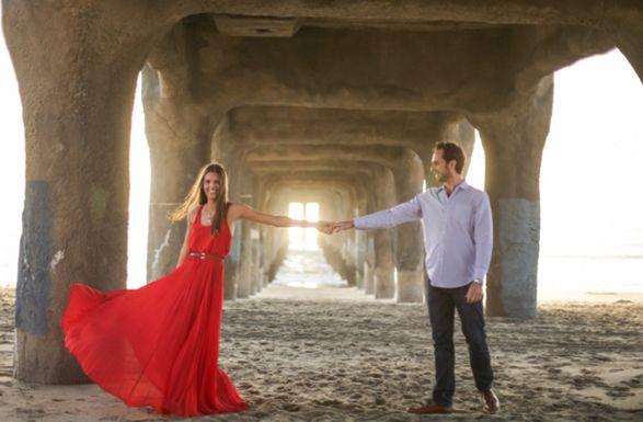 Red dress (T.C. Engle Photography via Feteblog)