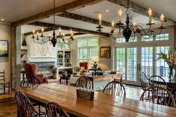 Lake House living room by Crisp Architects   hookedonhouses.net