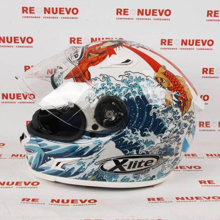 #Casco de #moto #JORGE LORENZO E271199   Tienda online de segunda mano en Barcelona Re-Nuevo #segundamano