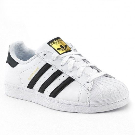 ADIDAS Superstar blanches bandes noires chaussures femmes 90,00 €