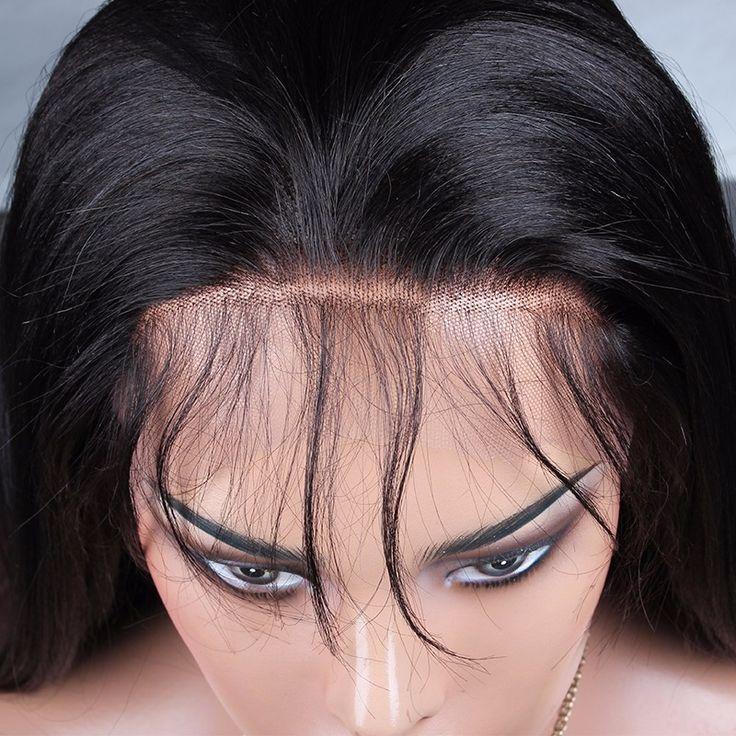 Wholesale Best 100% Virgin Brzilian full lace wig straight hair wig virgin Hair 1pcs human hair top quality