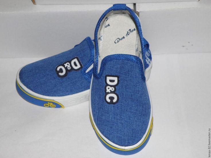 Купить Кеды детские - синий, кеды, детская одежда, обувь детская, полукеды, одежда для детей
