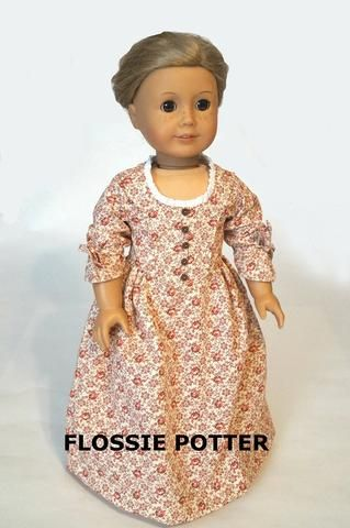 "mltb Betsy Ross Shop Dress 18"" Doll Clothes"