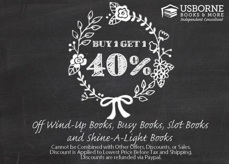 There are so many wonderful deals! Books for infants, books for toddlers, children, and young adults! Visit this page for more info! https://www.facebook.com/BrandysBookshelf/