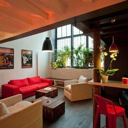un salon chaleureux et accueillant my dream lofts loft. Black Bedroom Furniture Sets. Home Design Ideas