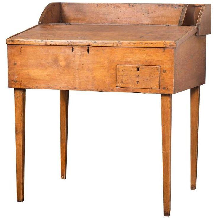 19th Century Primitive Americana Pine Desk - Best 25+ Pine Desk Ideas On Pinterest Pine Effect Desks, Desk