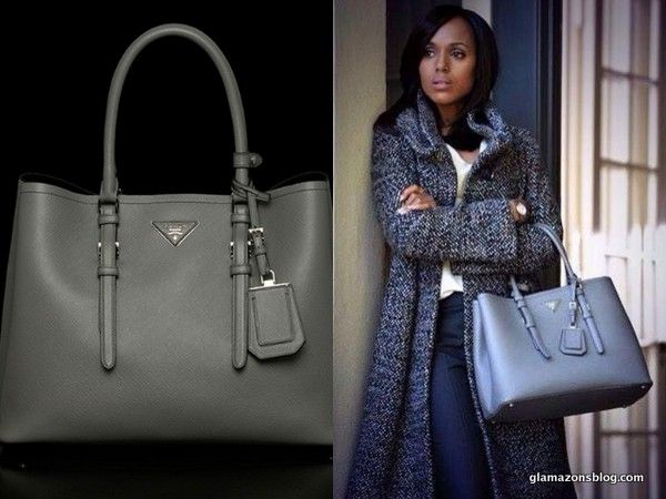 Scandal Fashion Recap: Olivia Pope\u0026#39;s Prada Tote #Scandal ... - prada galleria bag marble gray