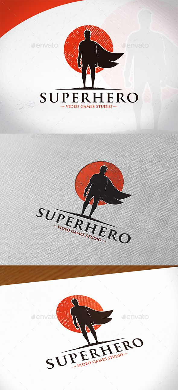 Super Hero Logo Template by BossTwinsMusic - Three color version: color, greyscale and single color.- The logo is 100% resizable.- You can change text and colors very easy u