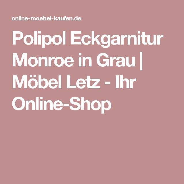 Polipol Eckgarnitur Monroe in Grau   Möbel Letz - Ihr Online-Shop