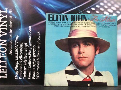 Elton John The Album LP Vinyl Record SHM3088 A1/B1 Pop 70's (Run Off 'Geoff') Music:Records:Albums/ LPs:Pop:1970s