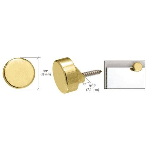 CRL Polished Brass Round Mirror Clip Set