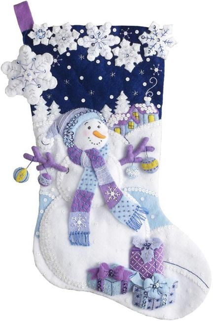 www.123stitch.com Felt_Applique_Christmas_Stockings.html