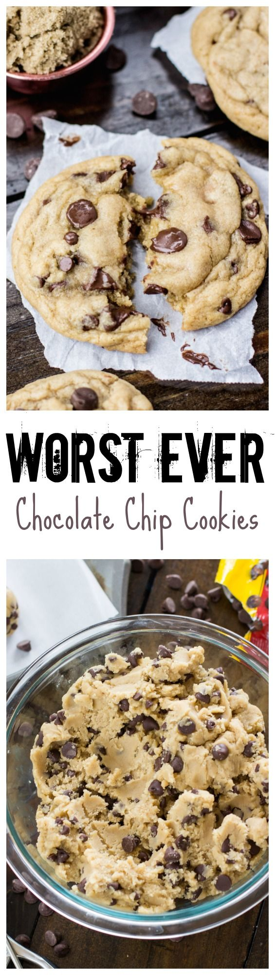 Can't wait to try this mouthwatering recipe for the worst chocolate chip cookies ever!