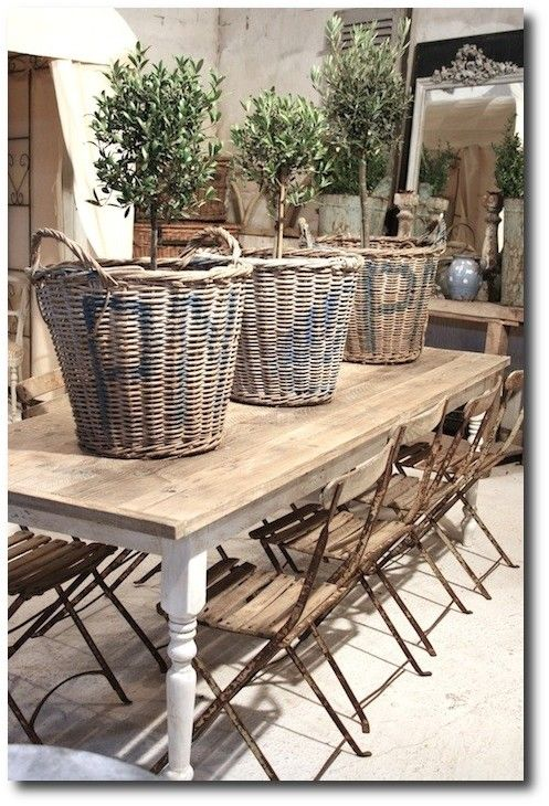 Traditional Patio French Country Style Dining Table Rustic Provence Decorating Ideas From Atelier De Campagne