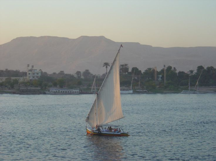 Luxor (Thebes), Egypt, Faluka boat on Nile