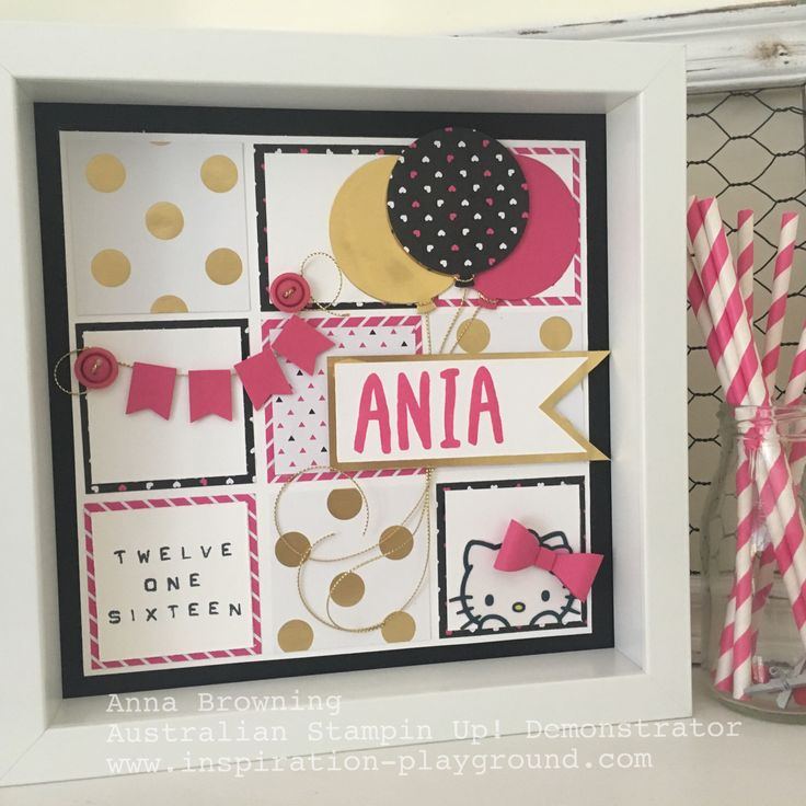 Anna Browning - Australian Independent Stampin Up Demonstator. Order your frame at www.inspiration-playground.com