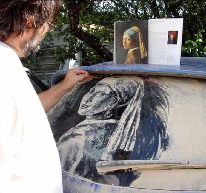 Рисунки на грязных автомобилях, как искусство