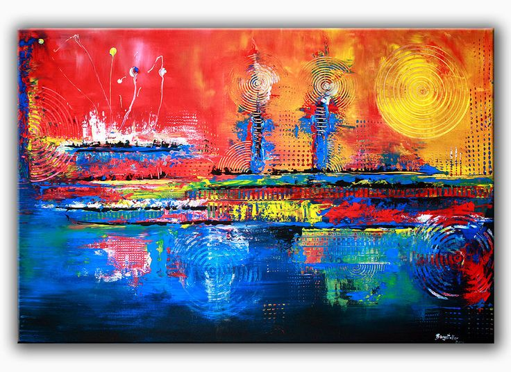 burgstaller malerei acrylbild bunt abstrakt kunst original wandbilder inferno 1 http www. Black Bedroom Furniture Sets. Home Design Ideas