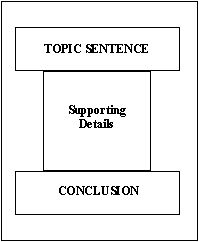 The structure of a paragraph.