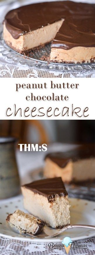 This Peanut Butter Chocolate Cheesecake is the answer to your Easter dessert dilemma!  THM:S, low carb, gluten free, low glycemic