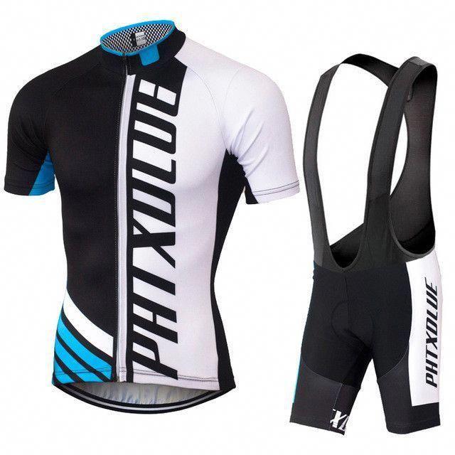Phtxolue Cycling Clothing Quick Dry Mtb Bike Jersey Set Bicycle