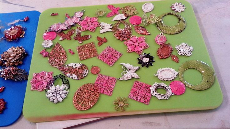 WTW 26/11/2014 Lyn Reeve Lots of Iced Enamels components ready for my next Collage Necklace