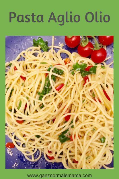 Rezept für Pasta AglioOlio mit Petersilie und Chili: sschnelles Pastarezept schmeckt mit Nudeln oder Spaghetti #rezept #pasta