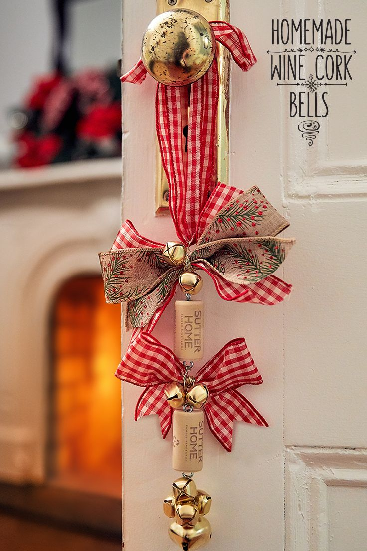 add a little christmas cheer to your door with these homemade wine cork bells sutter home family vineyards