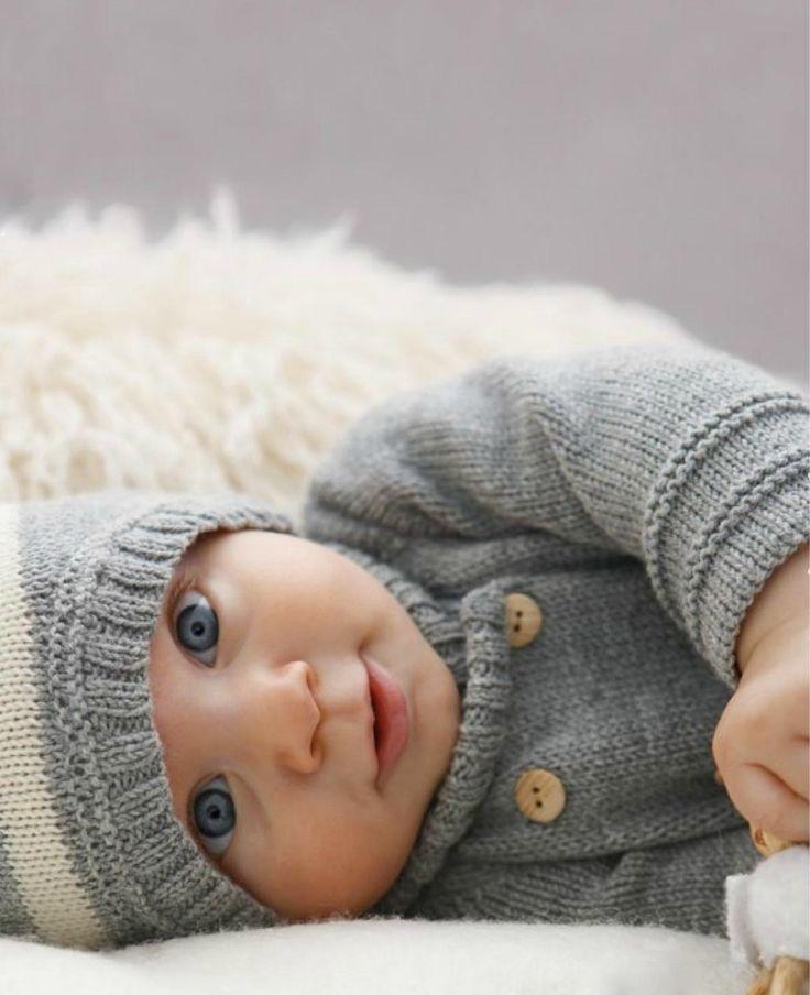 Ensemble Cardigan-veste-et son bonnet Retro-Vintage en laine 100% pour Bébé GARÇON : Mode Bébé par rose-de-roz
