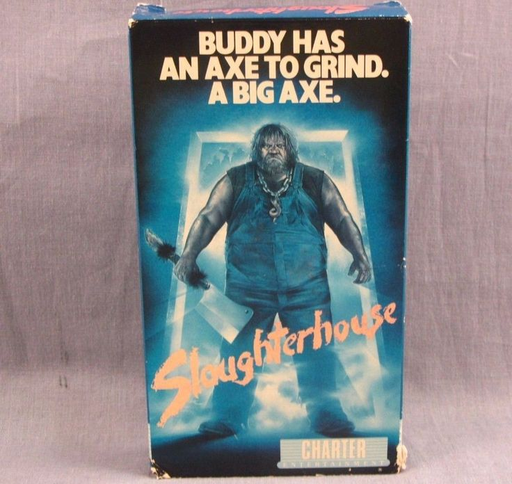 Slaughterhouse VHS Rare Video Buddy Bacon High School Revenge Big Axe 1987 Film