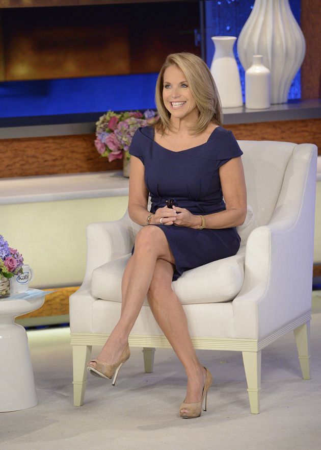 A Blue Magaschoni Dress Is Great For Every Season Katie Couric Fashion Work Chic