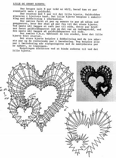 renda de bilros / bobbin lace corações / hearts