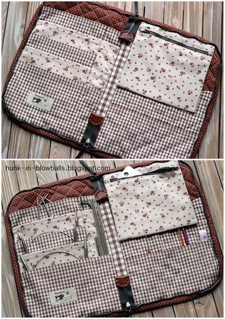 Чехол для спиц на молнии / Knitting Needle Case