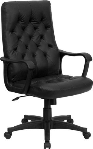 Swivel Office chair - Pin it :-) Follow us :-)) AzOfficechairs.com is your Office chair Gallery ;) CLICK IMAGE TWICE for Pricing and Info :) SEE A LARGER SELECTION of  swivel office chair at  http://azofficechairs.com/?s=swivel+office+chair -  office, office chair, home office chair -  High Back Traditional Black Leather Executive Swivel Office Chair « AZofficechairs.com
