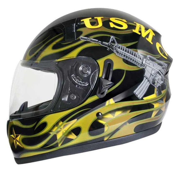 Hawk ST-1150 New Glossy Dual Visor Full Face Motorcycle Helmet XL Free Shipping #HawkHelmets #ATV